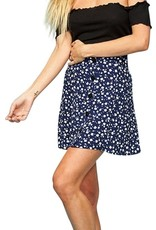 Mink Pink Shady Days Button Front Skirt
