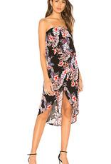Mink Pink Wild Hibiscus Strapless Dress