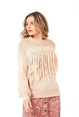 Mink Pink Yoanna Fringe Sweater