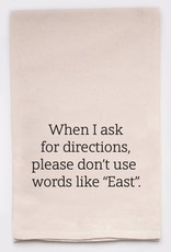 ellembee Ask For Directions Tea Towel