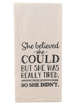 ellembee She Believed Tea Towel