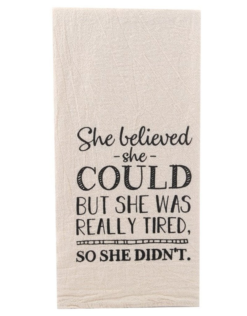ellembee She Believed Tea Towel