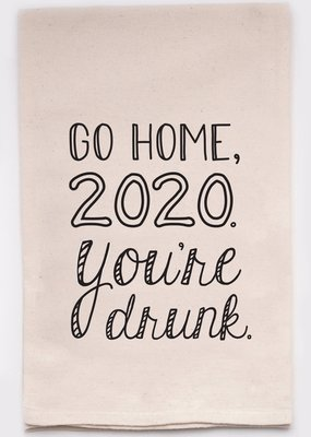 ellembee Go Home 2020 Tea Towel