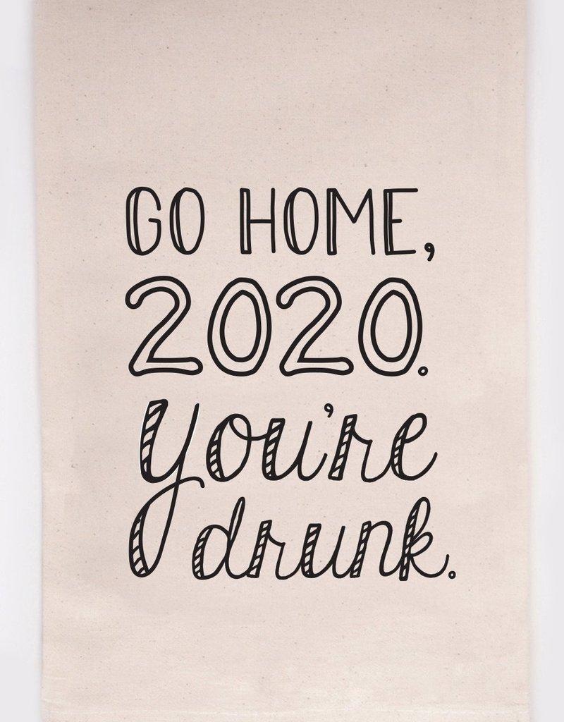 ellembee Go Home 2020 Tea Towel