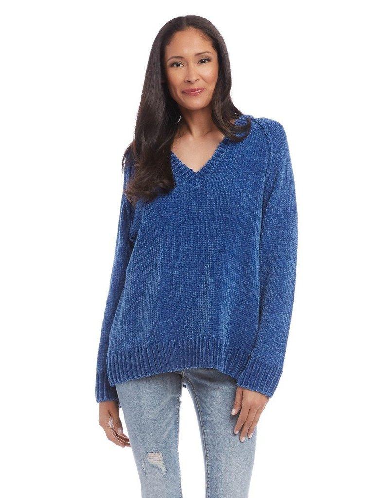 Karen Kane Chenille V-Neck Sweater