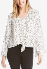 Karen Kane Star Print Tie Top