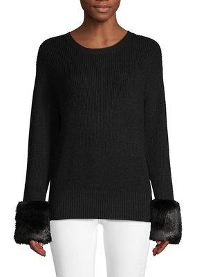 Molly Bracken Faux Fur Sleeve Sweater