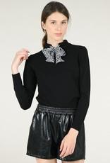 Molly Bracken High Neck Bow Sweater
