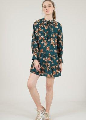 Molly Bracken Tiered Pattern Long Sleeve Dress