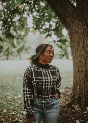 Molly Bracken Plaid Fuzzy  Sweater