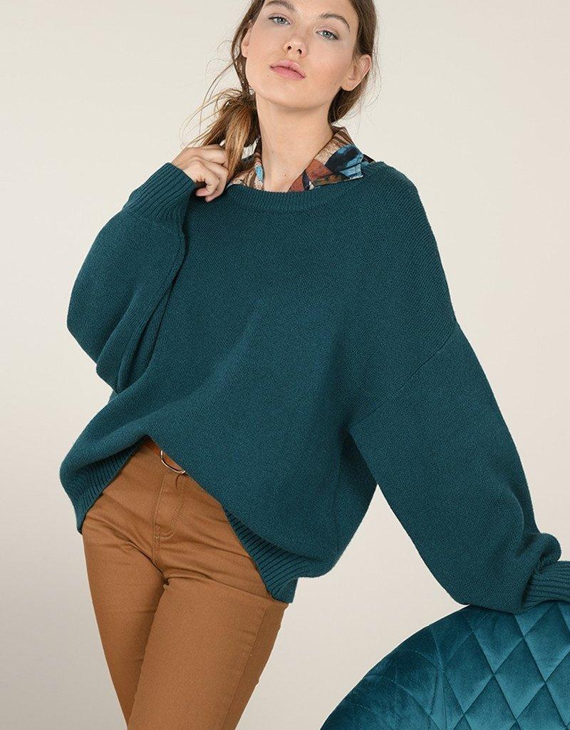 Molly Bracken Oversized Puff Sleeve Sweater