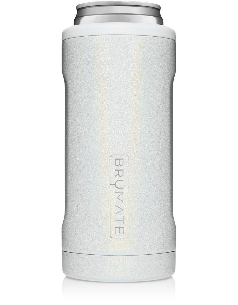 BrüMate Hopsulator Slim 12oz Glitter White