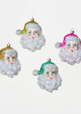 "One Hundred 80 Degrees Cheerful Santa 5.5"" Gold"
