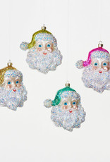 "One Hundred 80 Degrees Cheerful Santa 5.5"", Aqua"