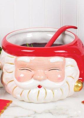 8 Oak Lane Santa Punch Bowl & Ladle