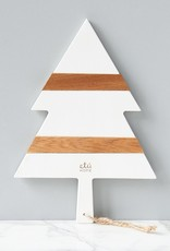 ETU Home White Mod Tree Charcuterie Board Small