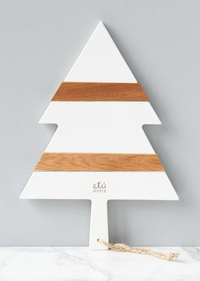 ETU Home White Mod Tree Charcuterie Board Small