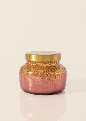 Capri Blue 19oz Glittered Ombre Signature Jar Tinsel & Spice Bronzed Berry
