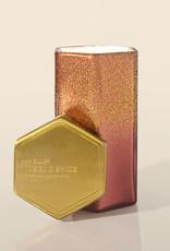 Capri Blue 17oz Glittered Ombre Hexagon Tinsel & Spice Bronzed Berry