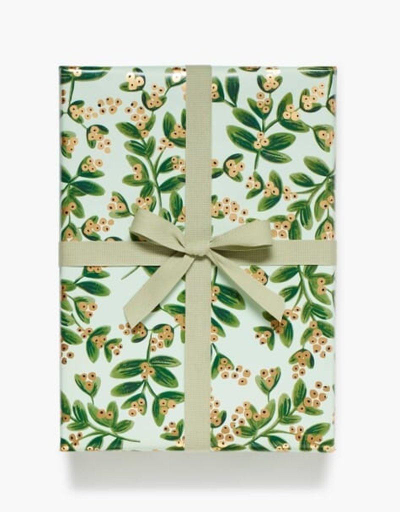 Rifle Paper Mistletoe Mint Continuous Wrapping Roll