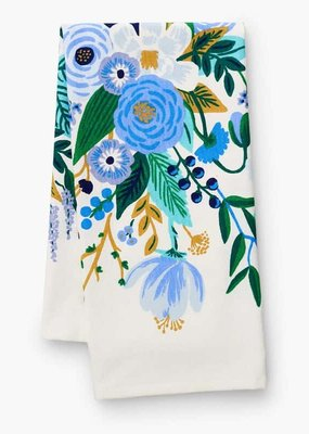 Rifle Paper Garden Party Blue Tea Towel