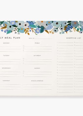 Rifle Paper Garden Party Blue Meal Planner