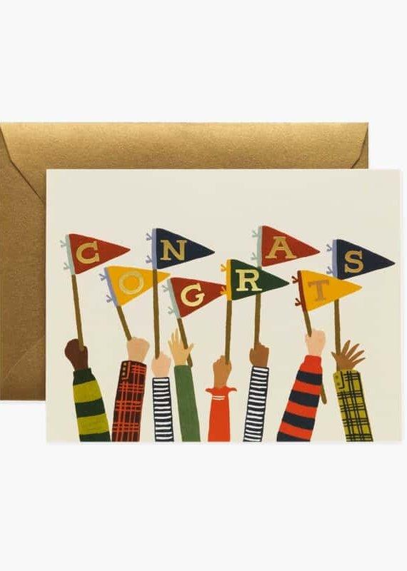 Rifle Paper Congrats Pennants Card