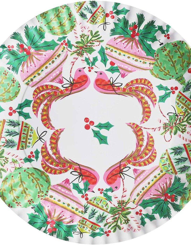 """One Hundred 80 Degrees Melamine Bird Ornaments """"Paper"""" Platter, 16"""""""