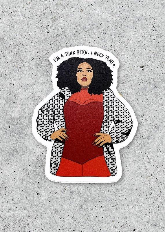 """Citizen Ruth Lizzo """"I'm a Thick.."""" Sticker"""