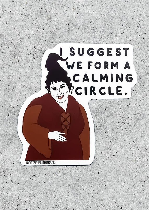 Citizen Ruth Hocus Pocus Calming Circle Sticker