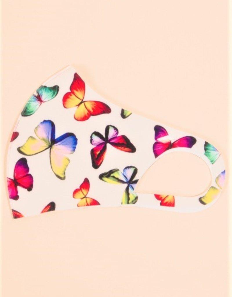 Butterfly Print Mask Ivory
