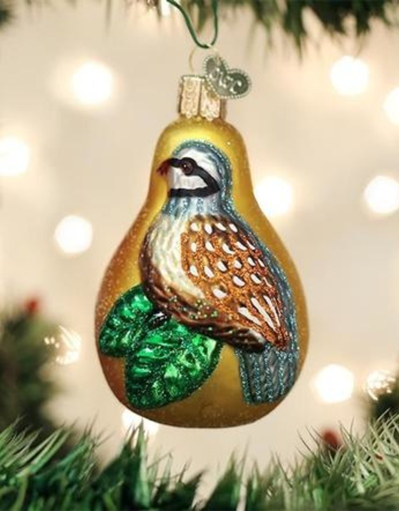 Old World Christmas Partridge In A Pear Tree Ornament