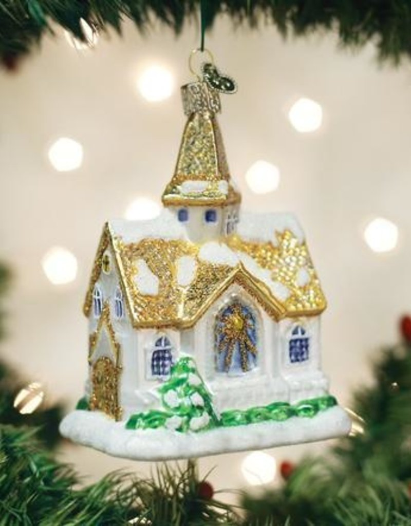 Old World Christmas Golden Cathedral Ornament
