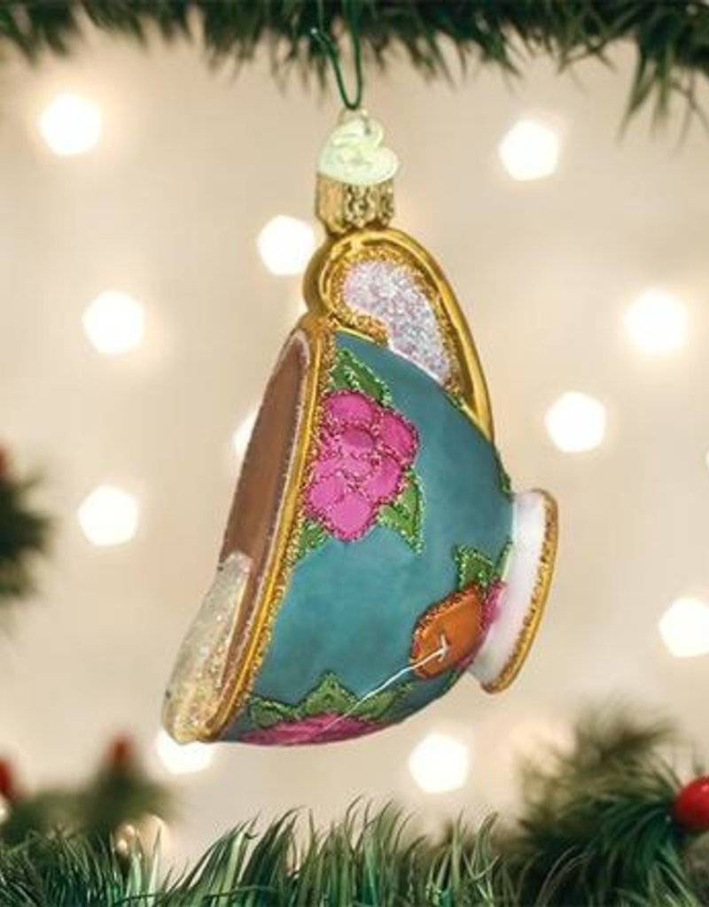 Old World Christmas Cup Of Tea Ornament