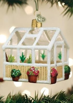 Old World Christmas Greenhouse Ornament