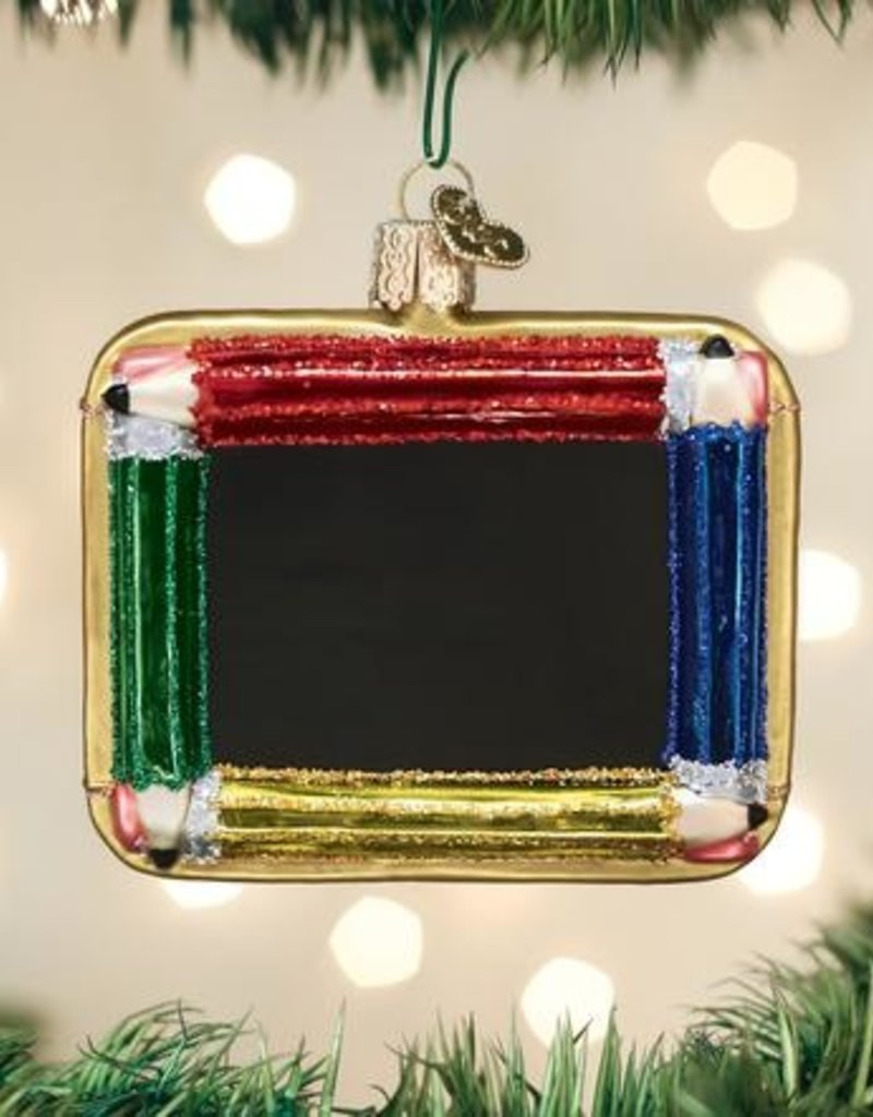 Old World Christmas Chalkboard Ornament