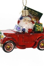 Old World Christmas Santa In Antique Car Ornament