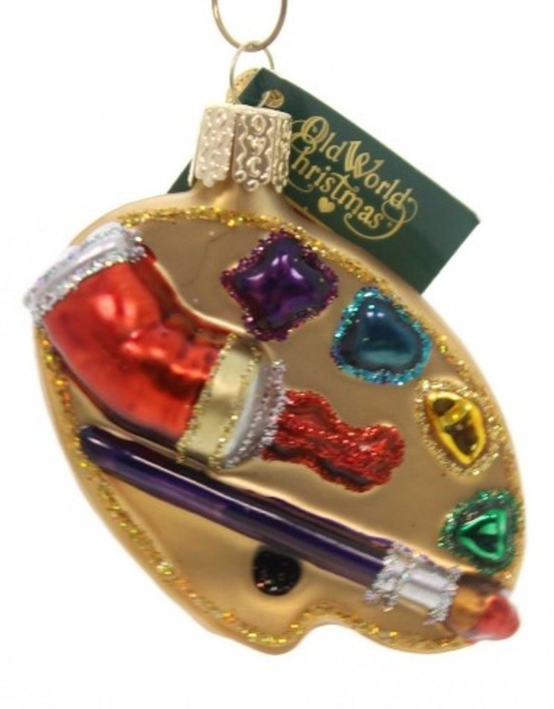 Old World Christmas Artists Pallet Ornament