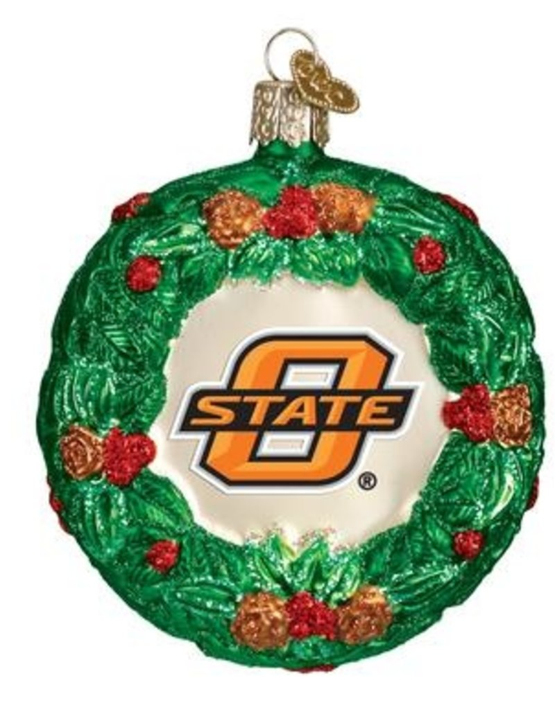 Old World Christmas Oklahoma State Wreath