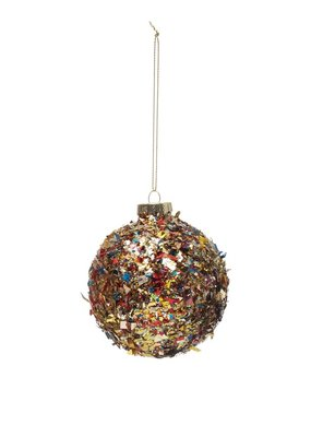 Creative Co-Op Confetti Ball Ornament 3""