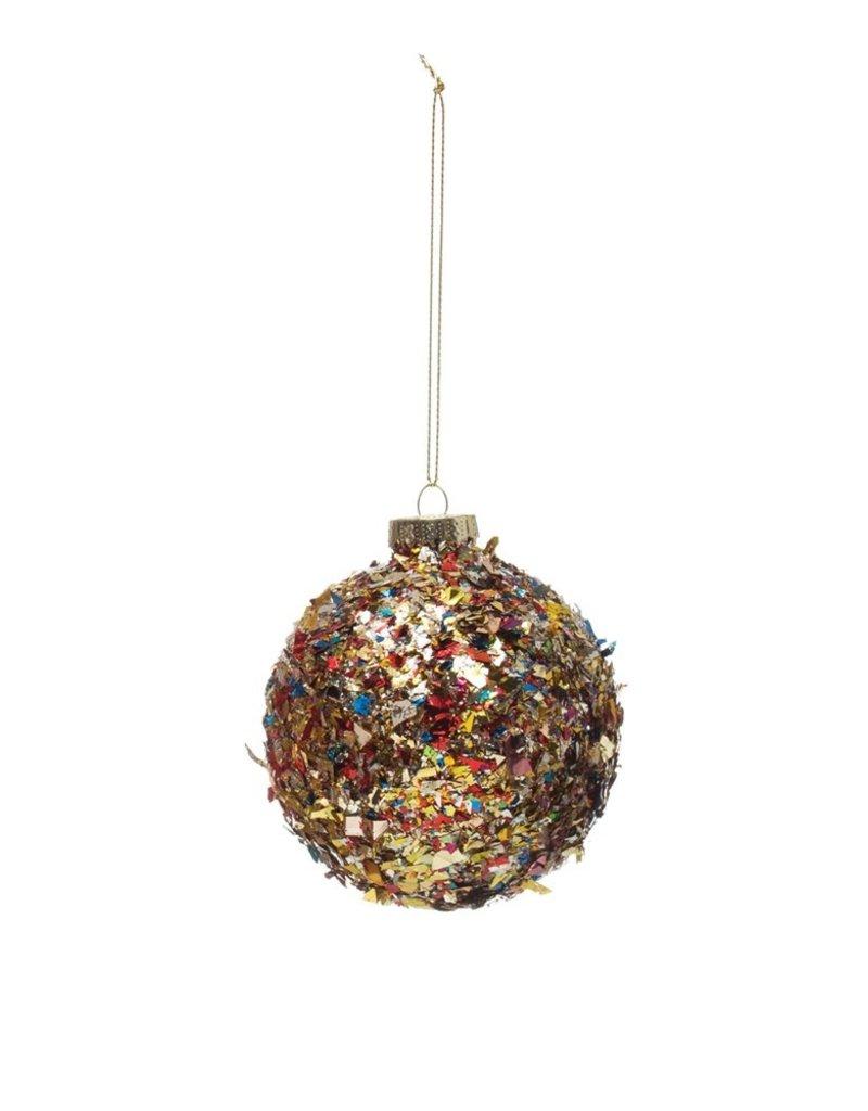 """Creative Co-Op Confetti Ball Ornament 3"""""""