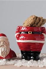 "Creative Co-Op Ceramic Santa Cookie Jar 11.5"""