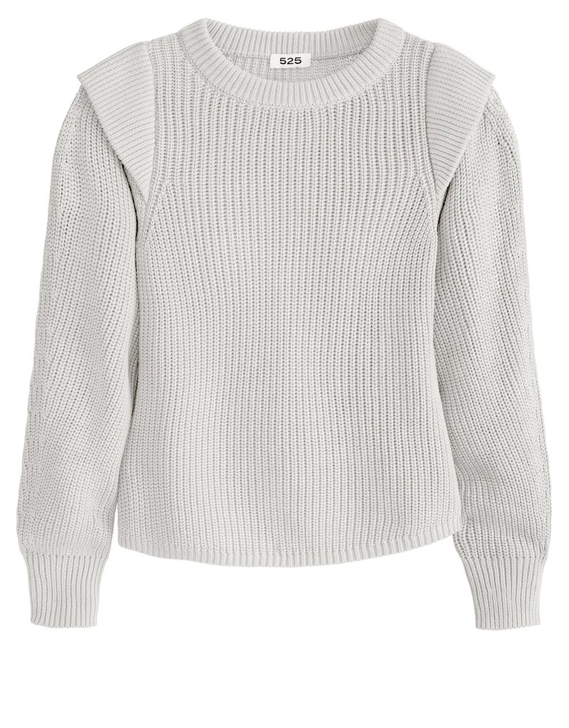 525 America Pullover Shoulder Detail Sweater
