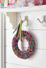 "Creative Co-Op Jingle Bell Wreath Multi 9"""