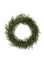 "Creative Co-Op 9.5"" Faux Pine Wreath Ice Finish"