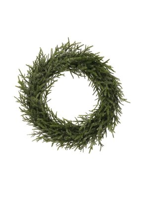 "Creative Co-Op 9.5"" Faux Pine Wreath Ice Finish"