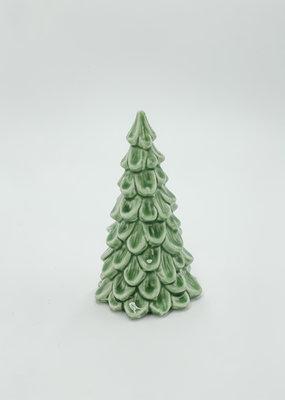 "Creative Co-Op Stoneware Tree Light Green 5.5"""