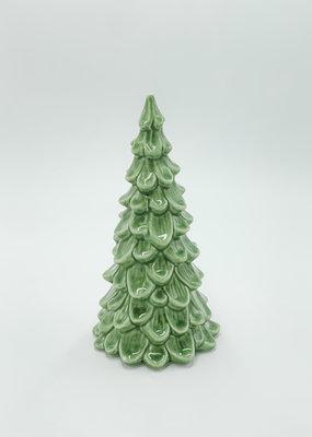"Creative Co-Op Stoneware Tree Light Green 8"""