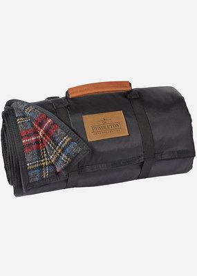 Pendleton Nylon Backed Roll-Up Blanket Charcoal Stewart