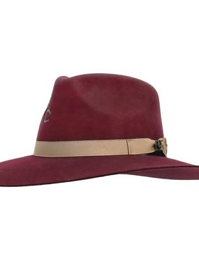 Charlie 1 Horse Highway Hat Burgundy 82 Medium